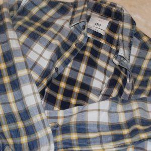 Zara men's plaid flannel medium nwot